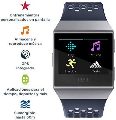 Fitbit Ionic Adidas Edition , El Smartwatch Deportivo, Azul (Tinta) / Gris (Hielo)