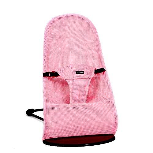 MLSH Bliss Soft Balanc Bouncer, Anthracite/Mesh Baby Rocking Chair Recliner Comfort Chair Cradle Chair Newborn Child(Blue /Pink /Dark Red) (Pink) by MLSH