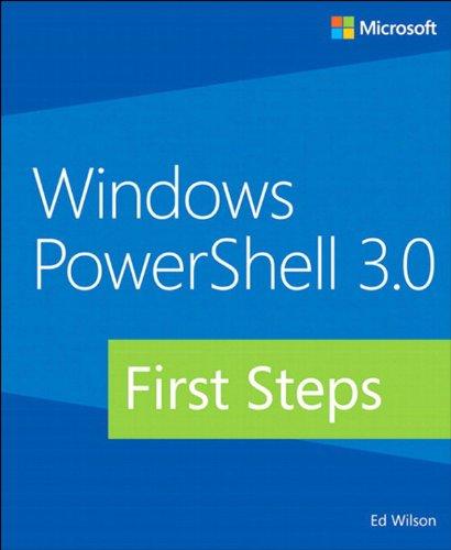 Windows PowerShell 3.0 First Steps Pdf