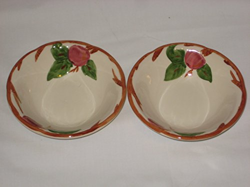 Set of 2 - Franciscan Apple Pattern 6x2