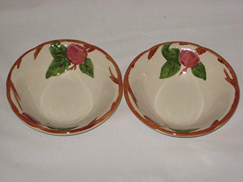 "Set of 2 - Franciscan Apple Pattern 6x2"" Berry Dessert Bowl - Shaffordshire England"