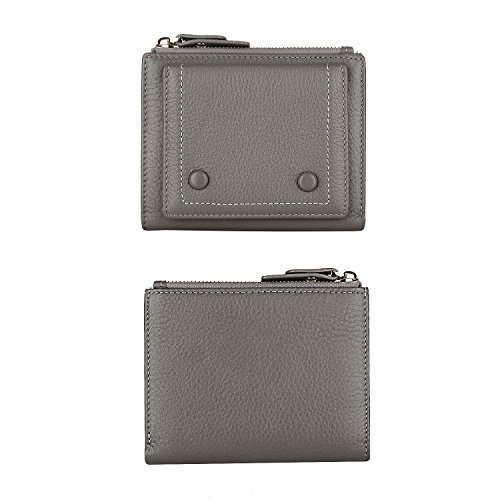 12 Card Holder Slots 2 ID Windows Small Genuine Leather Wallet for Women by YALUXE (Image #3)