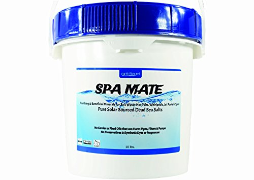 Price comparison product image Earthbound Spa Mate / Pure & Natural Bulk Mineral Dead Sea Salts for Salt Water Spas, Whirlpools and Hot Tub Systems / Reusable Bucket with Handle / 10 Pounds