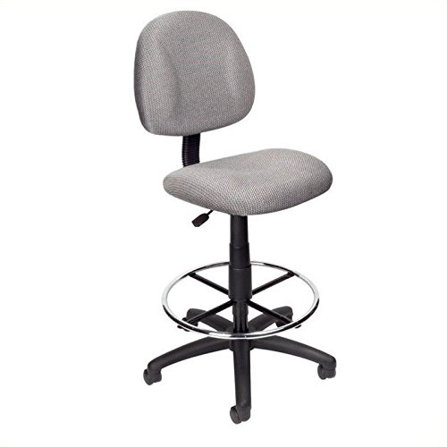 Boss Office Products B1615-BE Ergonomic Works Drafting Chair without Arms in - Linda Blue