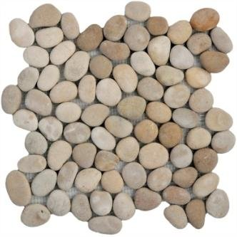 Natural Tan Pebble Tile 12x12