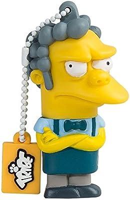 Tribe Los Simpsons Moe - Memoria USB 2.0 de 8 GB Pendrive Flash Drive de Goma con Llavero