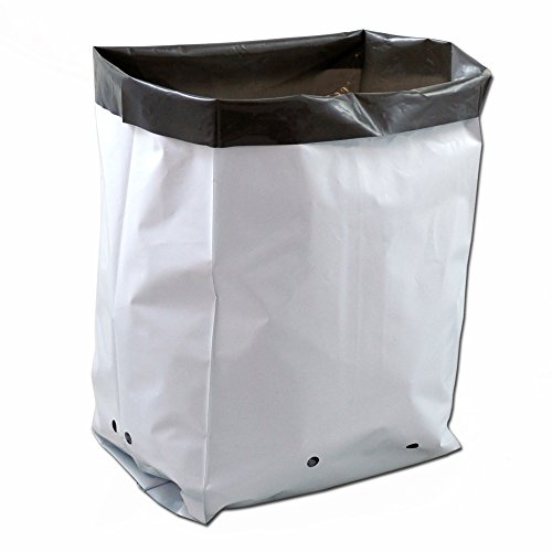 Earth Start Poly Grow Bags - 2 Gallon, - White Grow Plastic