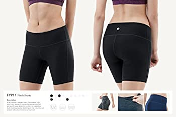 "Tesla Tm-fys11-blk_small Shorts 7"" Bike Running Yoga W Hidden Pockets Fys11 5"
