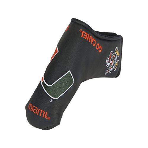 Team Effort Miami Hurricanes Black Blade Putter Cover