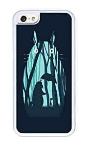 Apple Iphone 5C Case,WENJORS Adorable My Neighbor Totoro Soft Case Protective Shell Cell Phone Cover For Apple Iphone 5C - TPU White