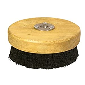 "Carpet and Upholstery Shampoo 5"" Wood Block Brush for Rotary Buffers - Polishers"