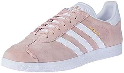 adidas, Gazelle Trainers , Unisex Shoes, Vapour Pink/White/Gold Metallic, 7.5 US Men / 8.5 Women