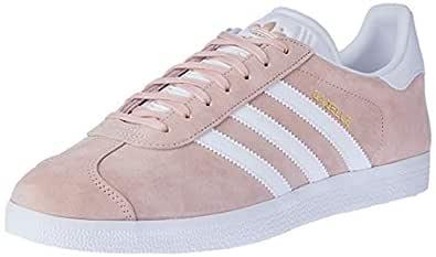 adidas Unisex Gazelle Shoes, Vapour Pink/White/Gold Metallic, 7.5 US Men / 8.5 US Women