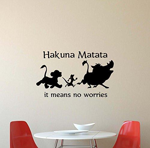 - Julia Cruz Hakuna Matata Wall Decal Lion King Simba Timon Pumbaa Walt Disney Quote Lettering Vinyl Sticker Baby Boy Girl Teens Kids Gift Home Bedroom Nursery Decor Art Poster Mural Print 650