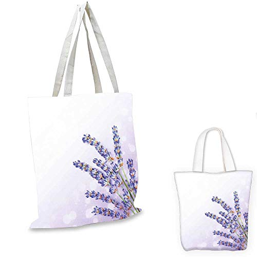 Organic Spa Tote (Lavender canvas laptop bag Little Posy of Medicinal Herb Fresh Plant of Purple Flower Spa Aromatheraphy Organic canvas tote bag with pockets Lavander. 14
