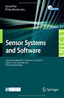Sensor Systems and Software Front Cover