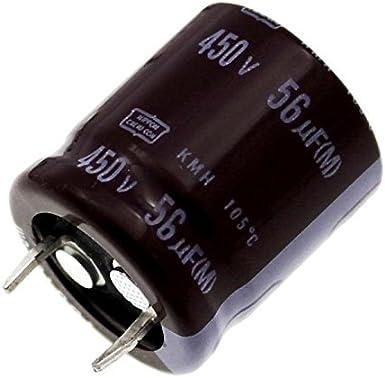 5x Snap In Elko Kondensator 56µf 450v 105 C Ekmh451vnn560mp25s 56uf Beleuchtung