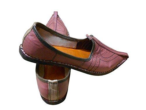 KALRA Creations Herren Schuhe Traditionell indische Slipper Leder Wild Rose