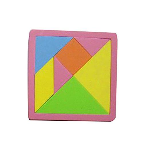 【ノーブランド品】EVAプラスチック製 タングラム パズルゲーム 知育玩具 子供 考え能力を訓練 ギフト カラフルの商品画像