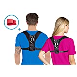 Back Posture Corrector for Women & Men | Fully Adjustable Clavicle Brace | One Size Fits all | Improves Bad Posture | Resistance Band Included | For Lower and Upper Back Pain