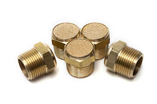 Pneumatic Sintered Bronze Air Breather Vent Muffler 3/4