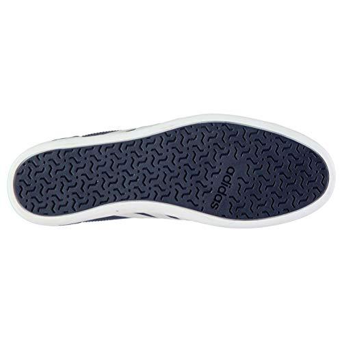 Hombre Azul Zapatilla Blanco Y adidas Cuero de Baja XxRnIqp