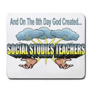 And On The 8th Day God Created SOCIAL STUDIES TEACHERS Mousepad [Office Product] by T-ShirtFrenzy [並行輸入品] B00VVZ1DV8