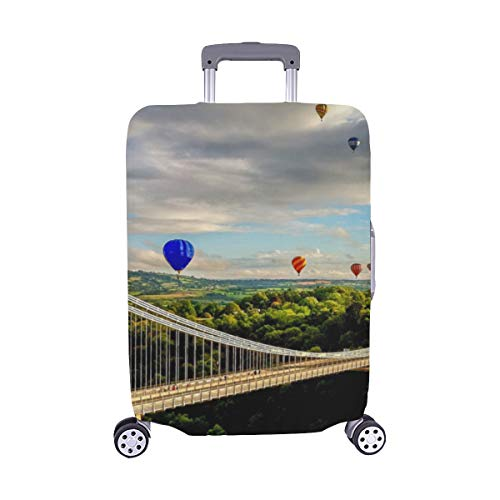 Clifton Suspension Bridge Panoramic View Spandex Trolley Case Travel Luggage Protector Suitcase Cover 28.5 X 20.5 Inch(only Dust Cover)