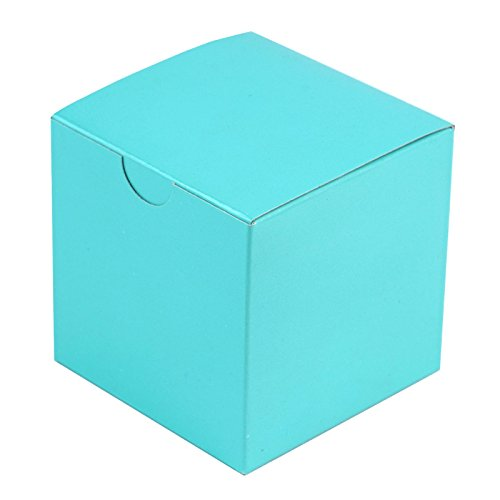 BalsaCircle 100 pcs 3-Inch Turquoise Wedding Favor Boxes for Wedding Party Birthday Candy Gifts Decorations Supplies