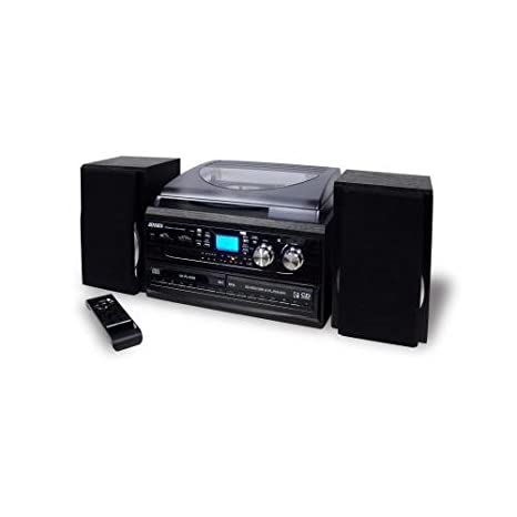 Amazon.com: Jensen jta980 sistema de Turntable 3speed 2 CD ...