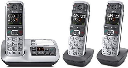Gigaset e560 a Trio Set con 3 terminales, DECT – Teléfono inalámbrico (analógico, contestador automático): Amazon.es: Electrónica