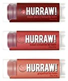 HURRAW! Black Cherry, Cinnamon, Grapefruit Lip Balms Bundle: Organic, Vegan, Cruelty Free, Non-GMO, Gluten Free, All Natural Luxury Lip Balm Made in USA – BLACK CHERRY, CINNAMON, GRAPEFRUIT (3 Pack)