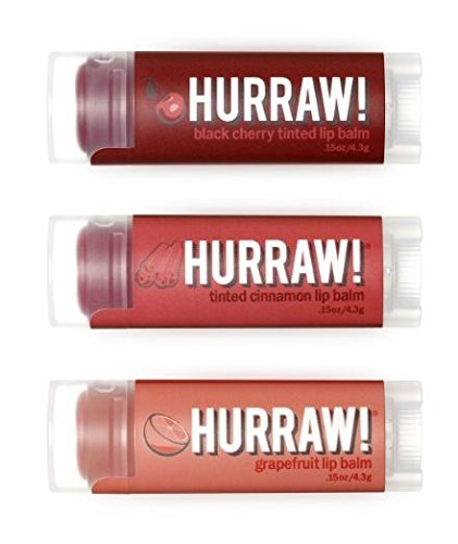 HURRAW! Black Cherry, Cinnamon, Grapefruit Lip Balms Bundle: Organic, Vegan, Cruelty Free, Non-GMO, Gluten Free, All Natural Luxury Lip Balm Made in USA – BLACK CHERRY, CINNAMON, GRAPEFRUIT (3 Pack) (Lip Balm Tinted Natural)