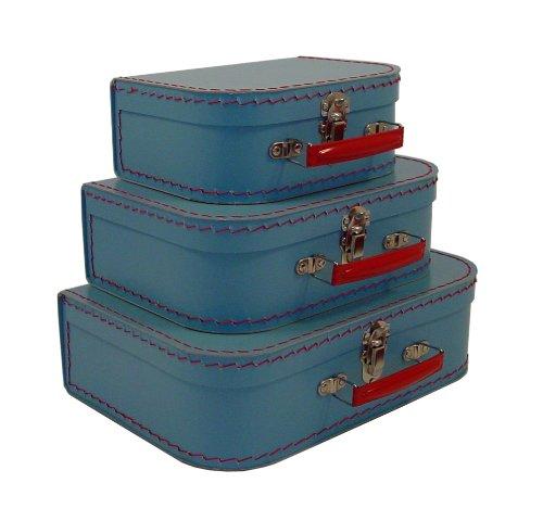 cargo Vintage Travelers Mini Suitcases - 3-Set, Soft Blue, - Traveler Case Cargo