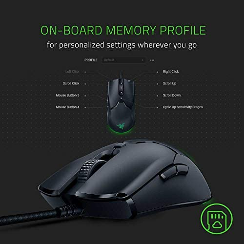 Razer Viper Mini Ultralight Gaming Mouse: Fastest Gaming Switches - 8500 DPI Optical Sensor - Chroma RGB Underglow Lighting - 6 Programmable Buttons - Drag-Free Cord - Classic Black