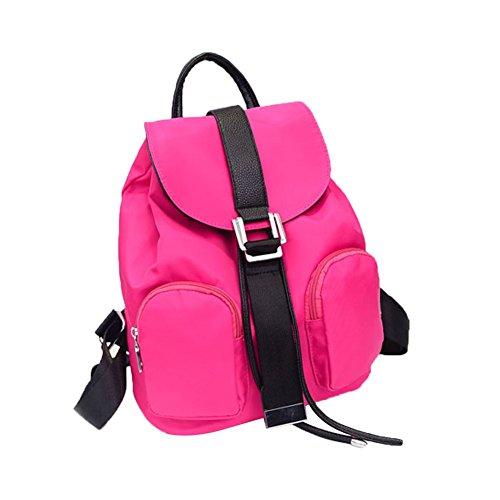 tellw Mujer Niñas Ocio Viaje Compras Mochila Morado morado Talla:24*13*30cm rosa - rosa (b)