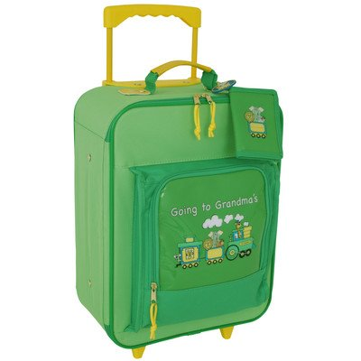 Going to Grandma's 15.5'' Children's Rolling Upright Suitcase Color Blue