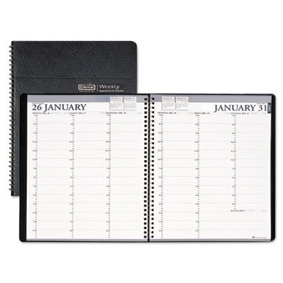 House of Doolittle 272002 Two-Year Professional Weekly Planner, 15-Min. Appts, 8-1/2 x 11, Blk, 2015-2016 by House of Doolittle