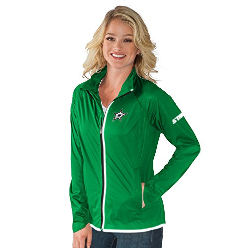GIII For Her NHL Dallas Stars Women's Batter Light Weight Full Zip Jacket, Small, Forest