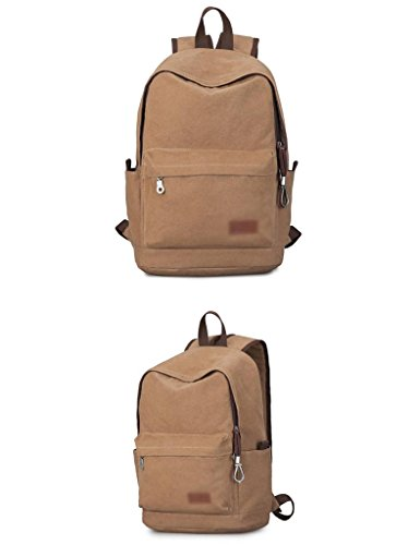 Bag color Leisure Male Fashion Canvas Brown College Brown Students Zcjb Backpack Travel Computer Men xq6FRw1B