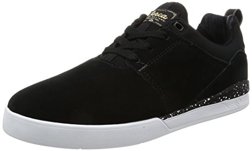 C1RCA Men's Neen Williams Durable Flex Non Slip Skate Shoe, Black/White/Gum, 7.0 Medium US