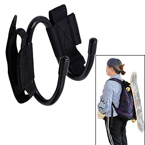 YYST Backpack Attachment Carrier Hanger Rack Hook Holder for Carrying Skateboard - Fit Most Backpacks - Easy to Use - No Backpack