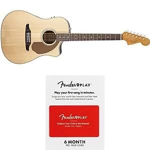 fender sonoran sce acoustic electric guitar rosewood fingerboard natural v2 with. Black Bedroom Furniture Sets. Home Design Ideas