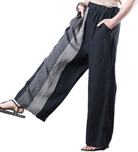 Linen Striped Drawstring Pants - 5