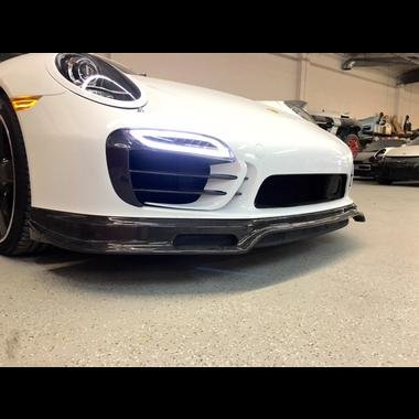 Porsche 991 Turbo & Turbo S Carbon Fiber front bumper lower Spoiler Valance for Turbo and