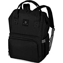 Soulsten Diaper Bag Backpack, Stylish for Mom and Dad, Multi-Function, Waterproof Travel Baby Nappy Bags for Boys and Girls, Large Capacity and Durable, Black