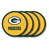 Duck House NFL Green Bay Packers Vinyl Coaster Set (Pack of 4)