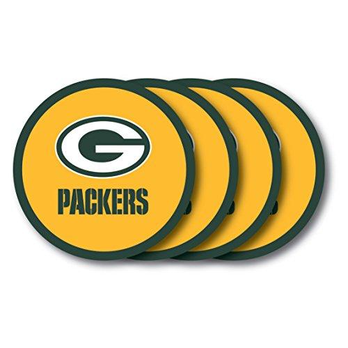 Duck House NFL Green Bay Packers Vinyl Coaster Set (Pack of (Green Bay Packers Coasters)