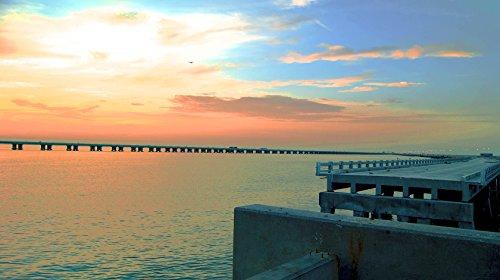 Skyway Pier #1 in St. Petersburg, Florida Photographic Canvas Print (40x24)