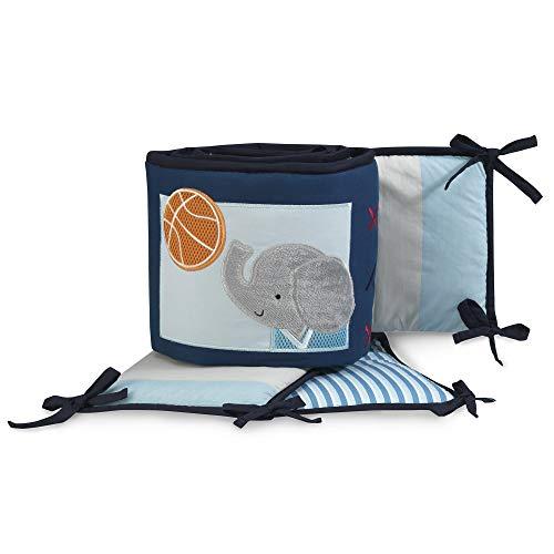 Lambs & Ivy Future All Star 4-Piece Crib Bumper - Blue, Gray, Animals, Sports All Star Sports Bedding